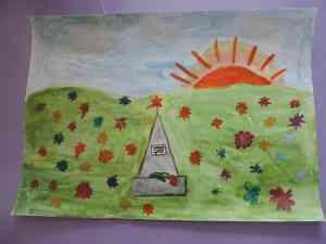 5  Рисунок. У  обелиска - Куликова Маша